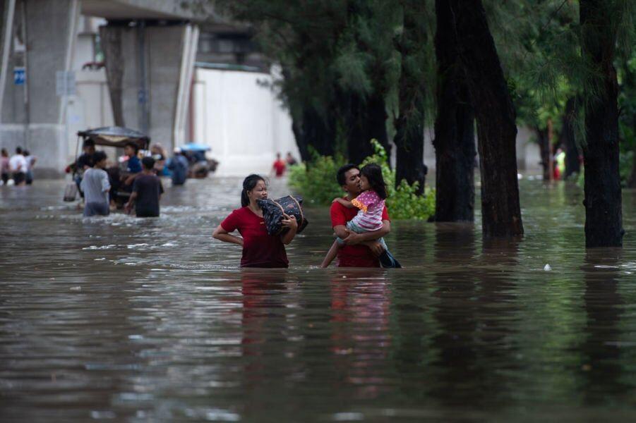 Inundaciones en Yakarta. Agencia de Noticias de América Latina vía Reuters.