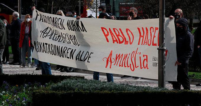 Manifestaciones a favor de Pablo Hasél. Txeng Meng